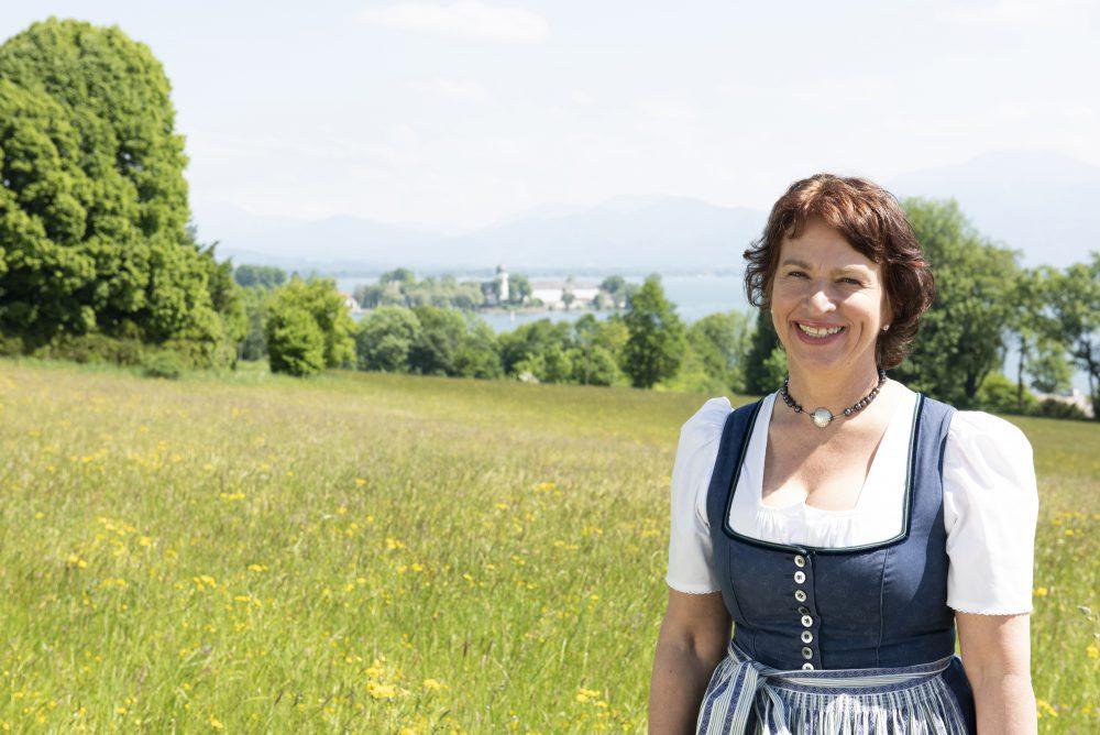 Gisela Sengl auf dem Stiegler Hof