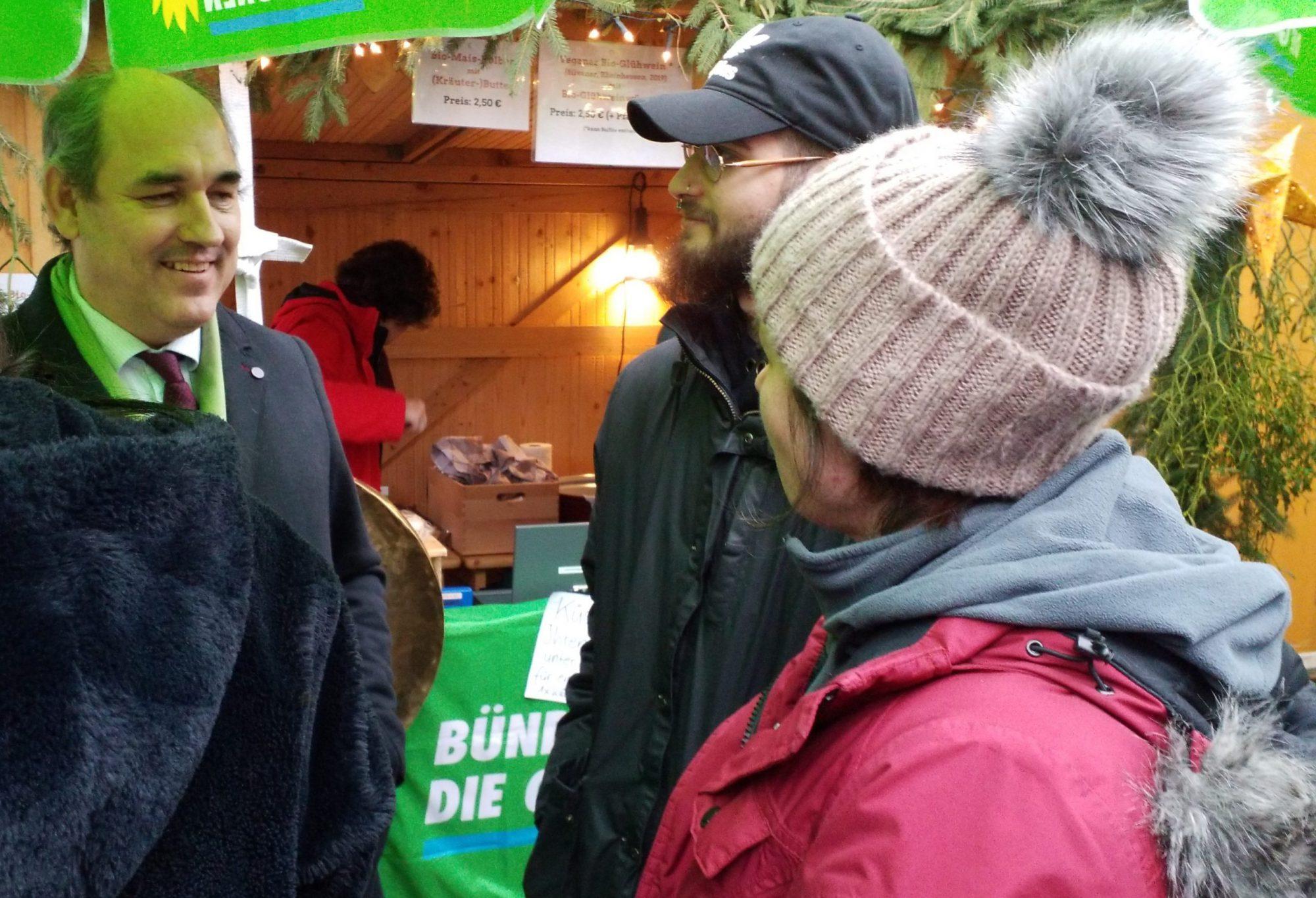 Alle Jahre wieder – Grüne am Wilhermsdorfer Weihnachtmarkt