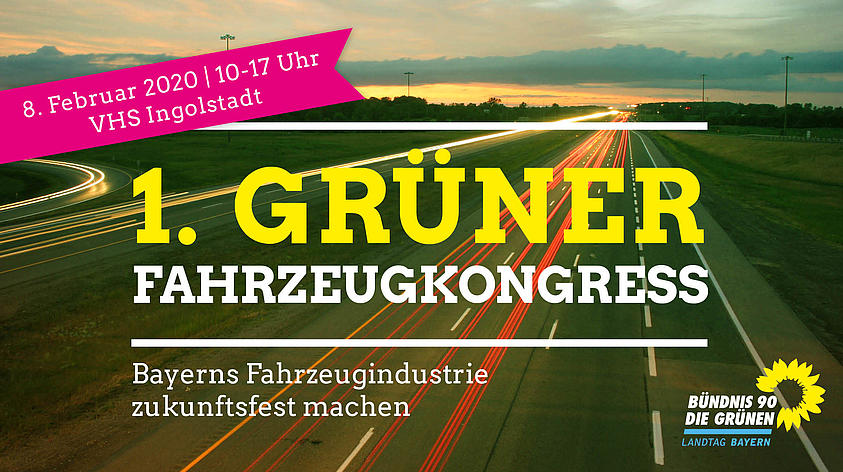 Kreisverband Fürth-Land besucht den 1. Grünen Fahrzeugkongress in Ingolstadt