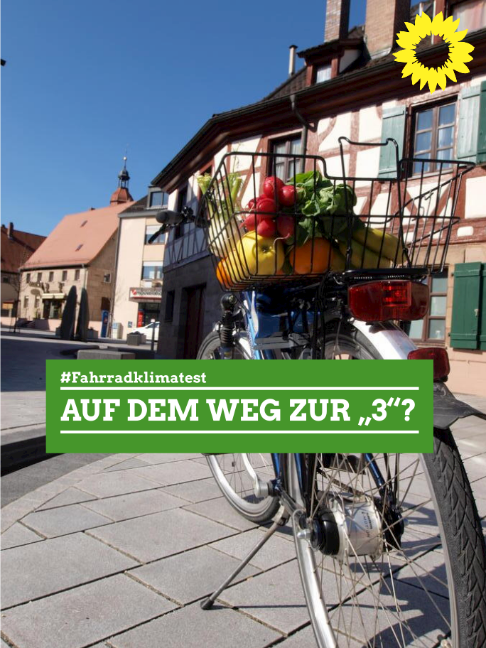 """ADFC-Fahrradklimatest 2020 – Zirndorf auf dem Weg zur """"3""""?"""