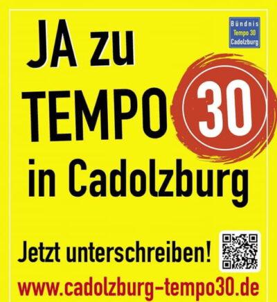 Aktion Cadolzburger Bündnis für Tempo 30