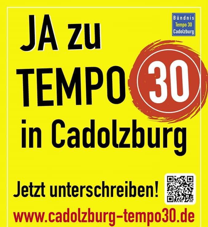 Wir sagen JA zu Tempo 30 auf der gesamten Ortsdurchfahrt in Cadolzburg!