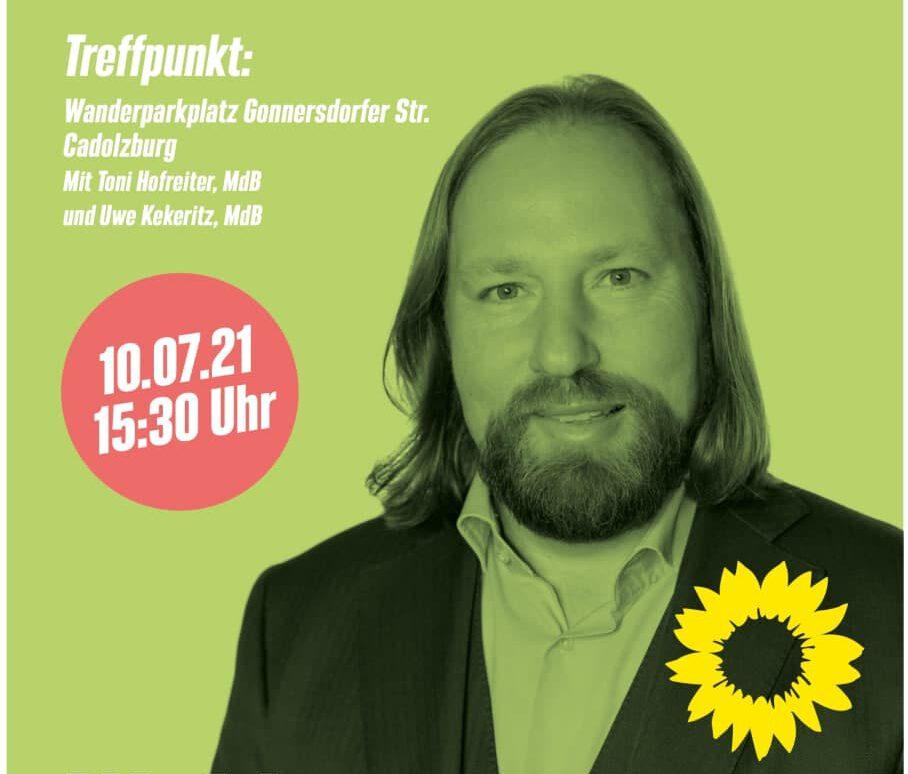 Einladung: Waldspaziergang mit Toni Hofreiter in Cadolzburg!