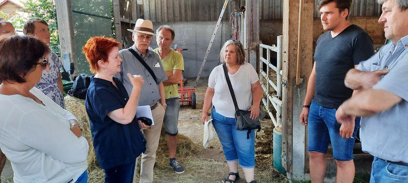 Besuch auf dem Zacherhof in Puschendorf