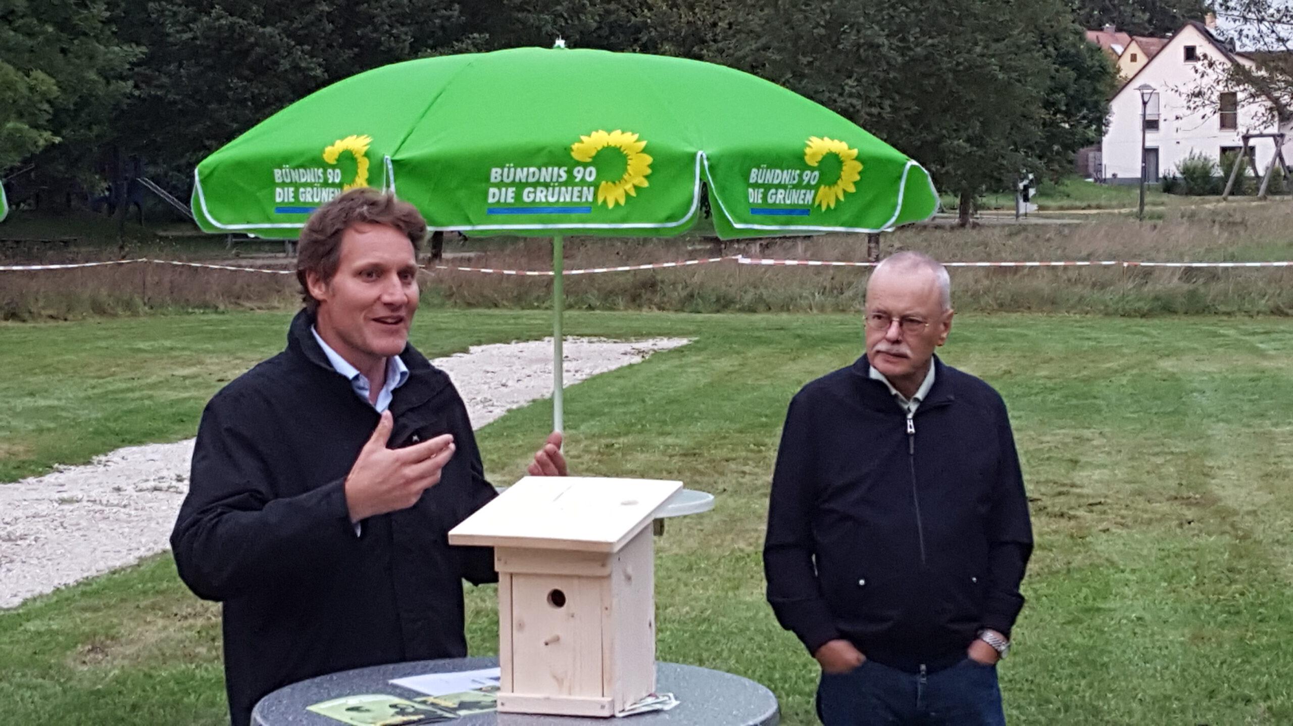 """""""Das ändern, was wir noch ändern können"""" – Bürgerdialog und Naturbad-Besichtigung mit Ludwig Hartmann"""