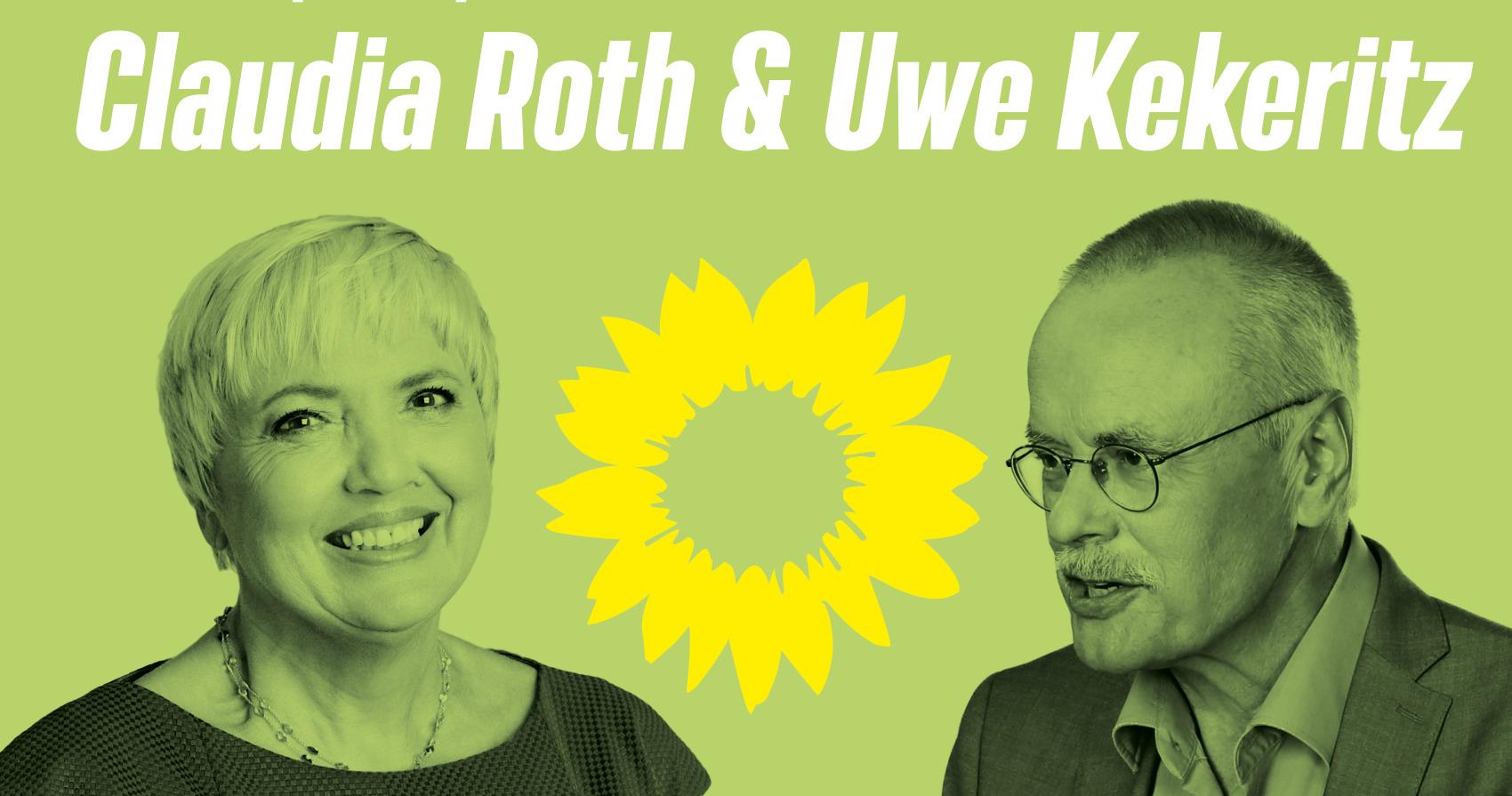 Einladung: Wahlkampfhöhepunkt mit Claudia Roth und Uwe Kekeritz in Zirndorf!