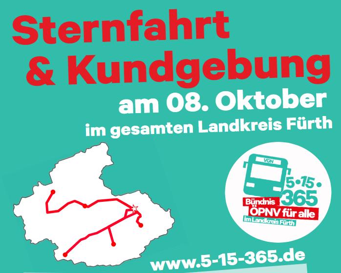 Einladung: Sternfahrt zum Landratsamt vom Aktionsbündnis ÖPNV!