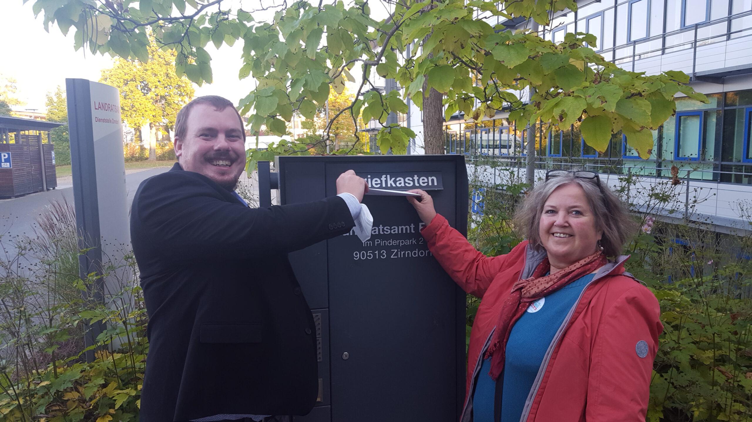 ÖPNV-Bündnis: Kundgebung und Briefübergabe am Landratsamt